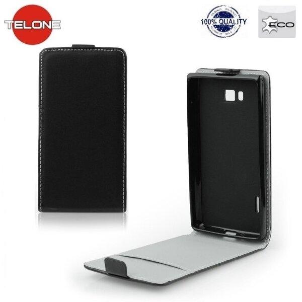 Atverčiamas dėklas Telone Flexi Slim Flip skirtas Sony Xperia E3, Juoda kaina ir informacija | Telefono dėklai | pigu.lt