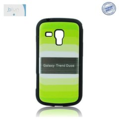 Blun Back Case Rainbow Samsung S7560 S7562 S7580 Trend Ultra slim plastic case Green