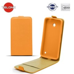 Telone Shine Pocket Slim Flip Case Samsung G350 Core Plus vertical book case Orange kaina ir informacija | Telefono dėklai | pigu.lt