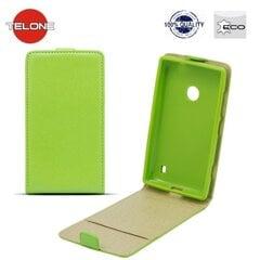 Atverčiamas dėklas Telone Shine Pocket Slim Flip Case skirtas LG G3 (D855), Žalia kaina ir informacija | Telefono dėklai | pigu.lt