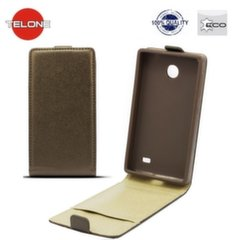 Telone Shine Pocket Slim Flip Case Samsung G350 Core Plus vertical book case Brown kaina ir informacija | Telefono dėklai | pigu.lt
