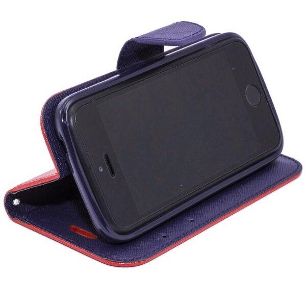 Atverčiamas dėklas Telone Fancy Diary Bookstand skirtas Samsung Galaxy S5 Mini (G800), Raudona kaina ir informacija | Telefono dėklai | pigu.lt