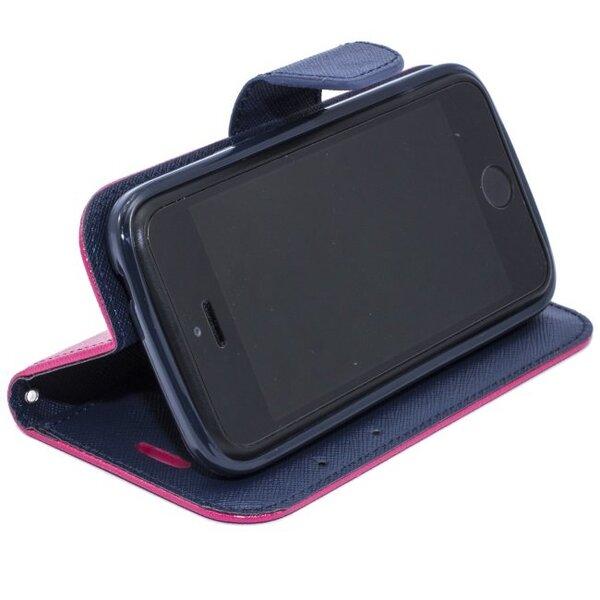 Atverčiamas dėklas Telone Fancy Diary Bookstand skirtas Sony Xperia Z1, Rožinė kaina ir informacija | Telefono dėklai | pigu.lt