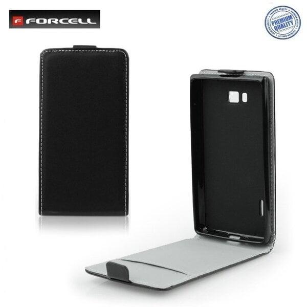 Atverčiamas dėklas Forcell Flexi Slim Flip skirtas Sony Xperia M C1905, Juodas kaina ir informacija | Telefono dėklai | pigu.lt