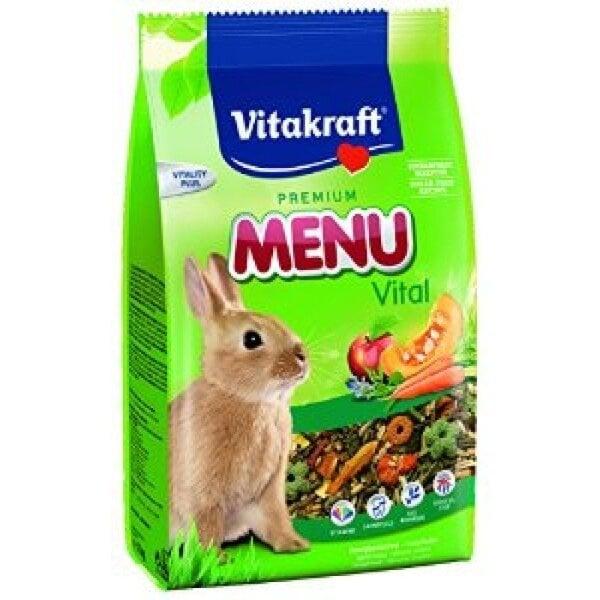 Vitakraft Menu Vital pašaras triušiams 0,5 kg kaina ir informacija | Maistas graužikams | pigu.lt