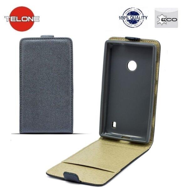 Atverčiamas dėklas Telone Shine Pocket Slim Flip skirtas Sony Xperia Z1 Compact, Pilka kaina ir informacija | Telefono dėklai | pigu.lt