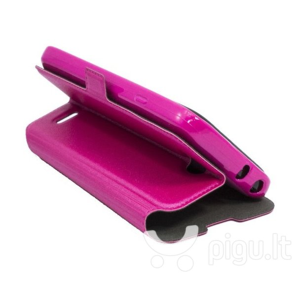 Atverčiamas dėklas Telone Super Slim Shine Book skirtas LG G2 mini (D620), Rožinė kaina ir informacija | Telefono dėklai | pigu.lt