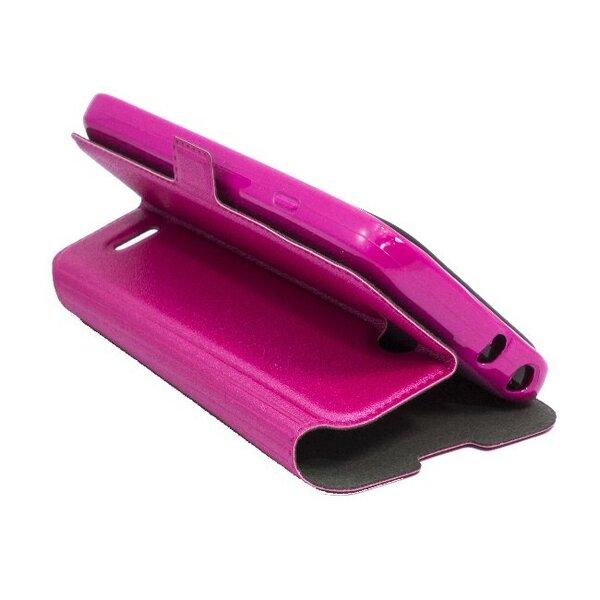 Atverčiamas dėklas Telone Super Slim Shine Book skirtas Sony Xperia Z1 Compact, Rožinė kaina ir informacija | Telefono dėklai | pigu.lt