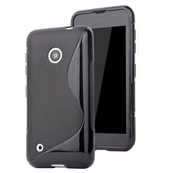 Apsauginis dėklas Telone skirtas Nokia Lumia 530, Juoda kaina ir informacija | Telefono dėklai | pigu.lt