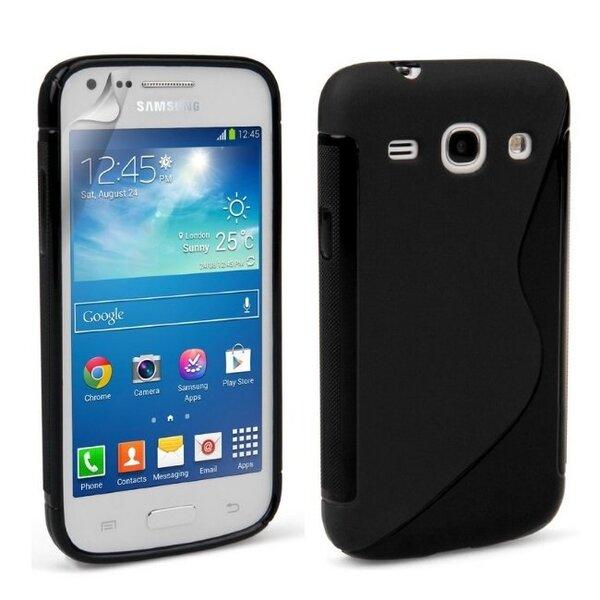 Apsauginis dėklas Telone skirtas Samsung Galaxy Core Lite (G3586V), Juodas kaina ir informacija | Telefono dėklai | pigu.lt
