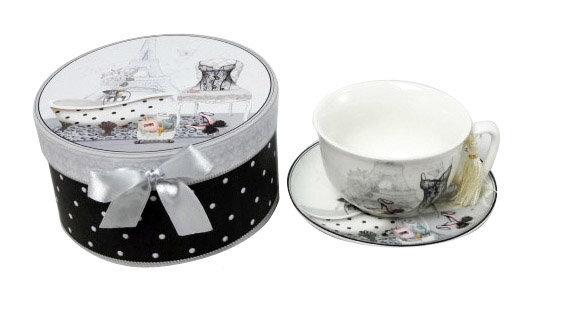 Porceliano puodelis dovanų dėžutėje kaina ir informacija | Taurės, puodeliai, ąsočiai | pigu.lt