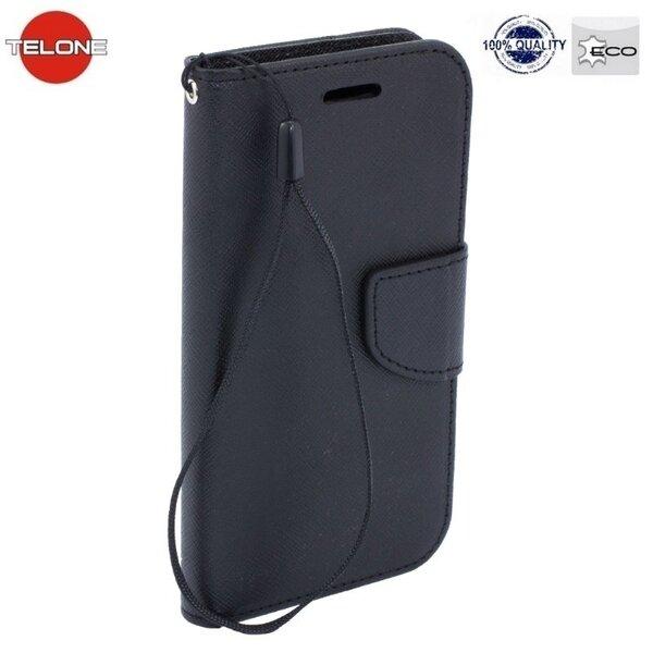 Atverčiamas dėklas Telone Fancy Diary Bookstand skirtas Samsung Galaxy Alpha (G850), Juoda kaina ir informacija | Telefono dėklai | pigu.lt