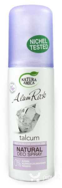 Natūralus purškiamas dezodorantas Natura Amica Alum Rock, talko kvapo 100 ml kaina ir informacija | Dezodorantai | pigu.lt