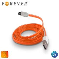 Forever Flat Silicone MicroUSB- USB 1m, Oranžinė