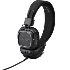 MARSHALL MAJOR II Black Headphones w/Mic & Remote/ Fully Collapsible Construction