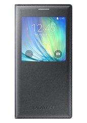 Atverčiamas dėklas View cover skirtas Samsung Galaxy A7 (A700), Pilka