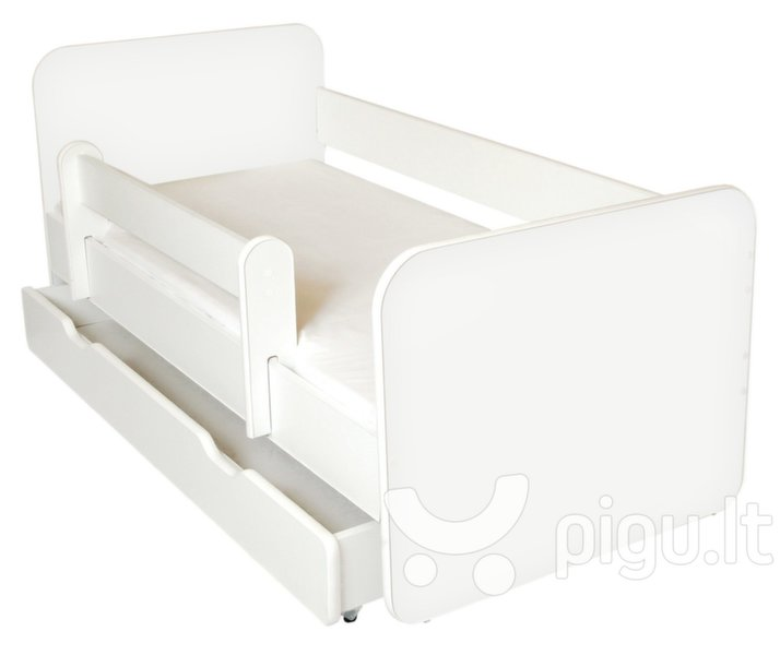 Lova su čiužiniu, patalynės dėže ir nuimama apsauga Ami B, 140x70cm kaina ir informacija | Vaiko kambario baldai | pigu.lt