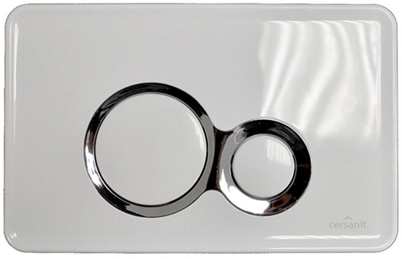 WC Mygtukas Slim&Silent OTTO, baltas kaina ir informacija | Priedai unitazams, bidė | pigu.lt