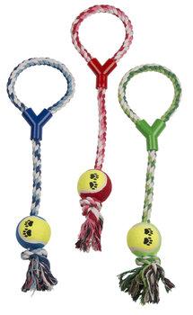 Žaislas šuniui kamuoliukas su virve kaina ir informacija | Žaislai šunims | pigu.lt