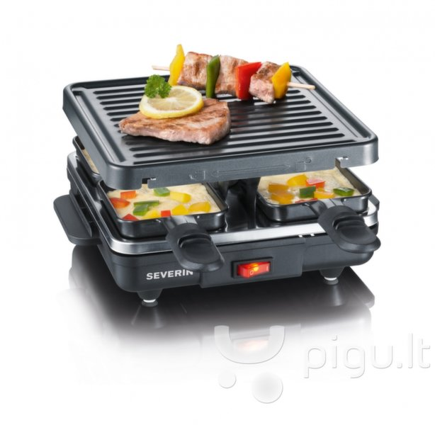Grilis Severin Raclette RG2686 kaina ir informacija | Elektriniai griliai, marinatoriai | pigu.lt