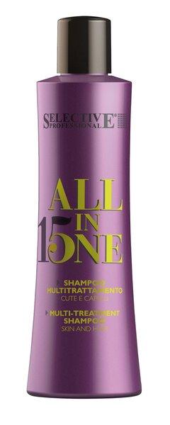 Daugiafunkcinis kondicionuojamasis šampūnas Selective Professional All in One 250 ml kaina ir informacija | Šampūnai | pigu.lt