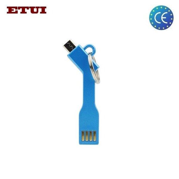 Adapteris - pakabukas Etui USB - Micro USB, Mėlyna kaina ir informacija | Laidai telefonams | pigu.lt