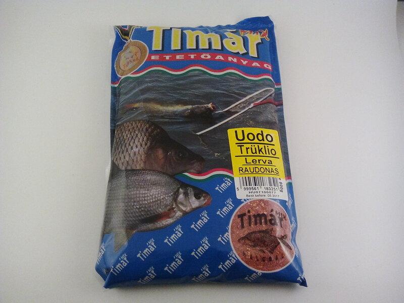 TIMAR MIX Jaukas uodo truklio lerva 800g Raudonas kaina ir informacija | Žvejybos reikmenys | pigu.lt