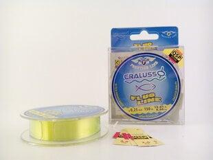 Valas CRALUSSO Fluo Line, 150 m, 0,18 – 0,30 mm, ryškiai geltonos spalvos