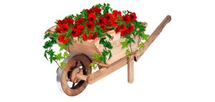 Sodo dekoracija Karutis kaina ir informacija | Gėlių stovai, vazonų laikikliai | pigu.lt