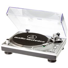 Audio Technica AT-LP120-USBHC Direct-Drive Professional Turntable (USB & Analog)/ Silver/ with HS10 Headshell and AT95 Cartridge kaina ir informacija | Plokštelių grotuvai ir patefonai | pigu.lt
