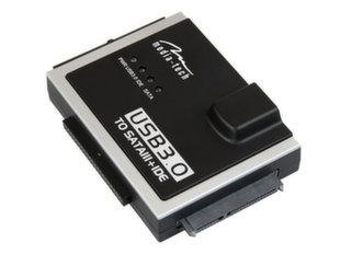 Adapteris Media-Tech MT5100 SATA/IDE - USB 3.0, SATA 22pin, PATA 44pin , PATA 40pin, juodas