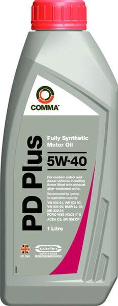 Alyva ''Comma'' DIESEL PD 5W-40, pilnai sintetinė, 1L kaina ir informacija | Variklinės alyvos | pigu.lt