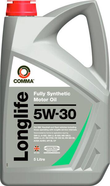 Alyva ''Comma'' Longlife 5W-30, pilnai sintetinė, 5L kaina ir informacija | Variklinės alyvos | pigu.lt