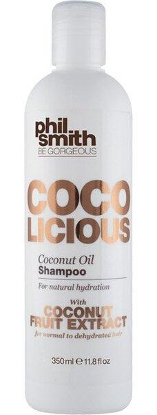 Šampūnas su kokosų aliejumi natūraliai plaukų hidratacijai Phil Smith 350 ml kaina ir informacija | Šampūnai | pigu.lt