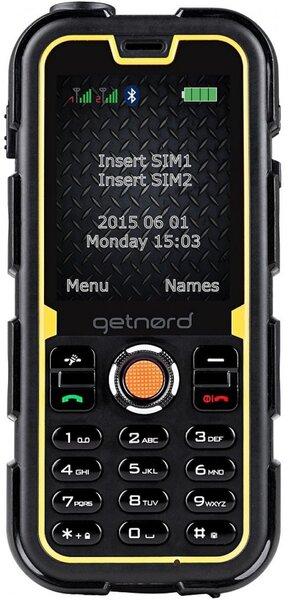 Getnord Walrus 2, Juoda/Geltona kaina ir informacija | Mobilieji telefonai | pigu.lt