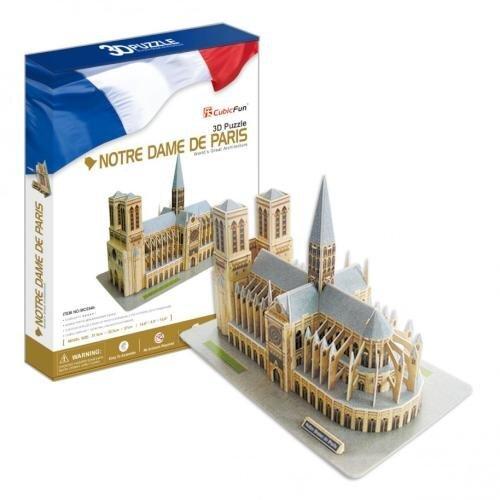 "3D dėlionė CubicFun ""Noterdamo katedra"", 74 detalės kaina ir informacija   Dėlionės (puzzle)   pigu.lt"