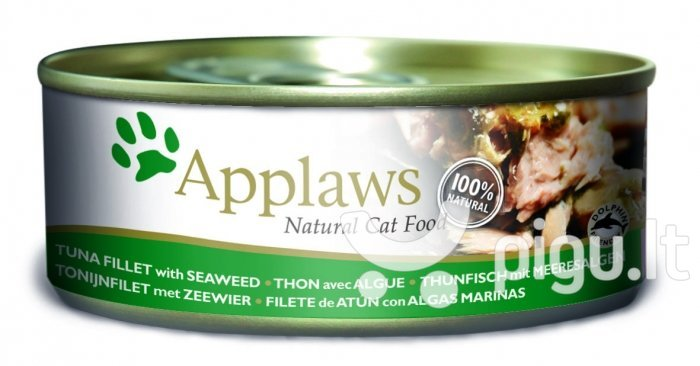 Applaws Cat Tuna Fillet & Seaweed, 70 g kaina ir informacija | Konservai katėms | pigu.lt