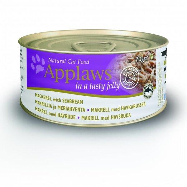 Applaws Jelly Mackerel & Seabream, 70 g kaina ir informacija | Konservai katėms | pigu.lt