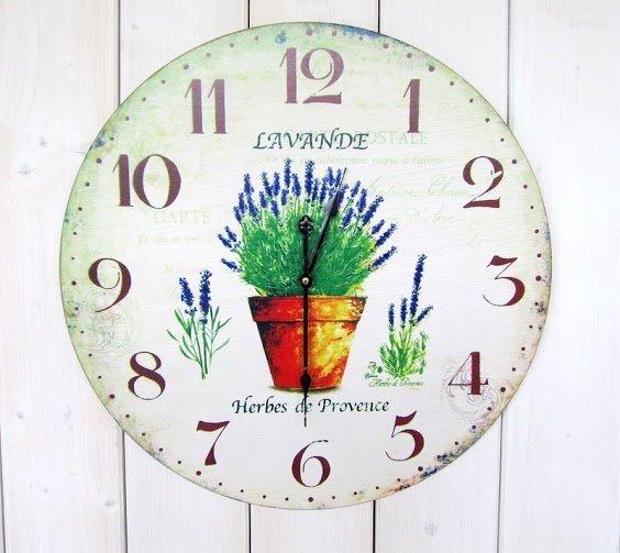 Sieninis laikrodis Lavande kaina ir informacija | Laikrodžiai | pigu.lt