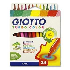 Flomasteriai Giotto Turbo, 24 spalvos, 071500 kaina ir informacija | Kanceliarinės prekės | pigu.lt