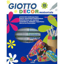 Flomasteriai Fila Giotto Decor Materials, 12 spalvų, 453400
