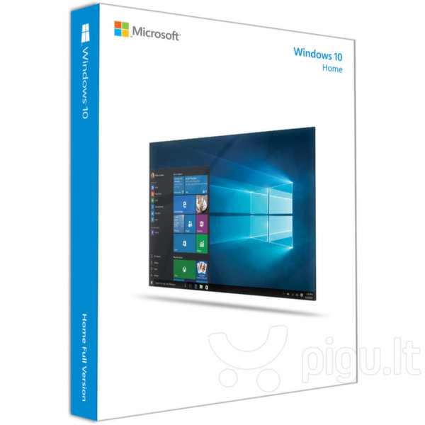 Microsoft WINDOWS 10 Home 64-bit GGK ENG kaina ir informacija | Operacinės sistemos | pigu.lt