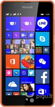 Microsoft Lumia 540 DS, Oranžinė kaina ir informacija | Mobilieji telefonai | pigu.lt