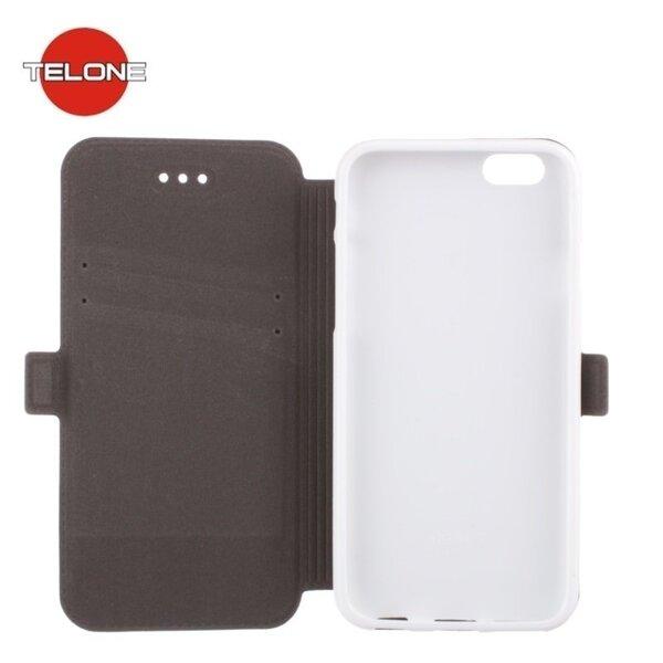 Atverčiamas dėklas Telone Super Slim Shine Book Case skirtas Samsung Galaxy Core Prime (G360), Balta kaina ir informacija | Telefono dėklai | pigu.lt