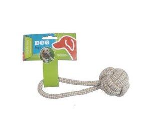 Žaislas šuniui kamuoliukas su virve