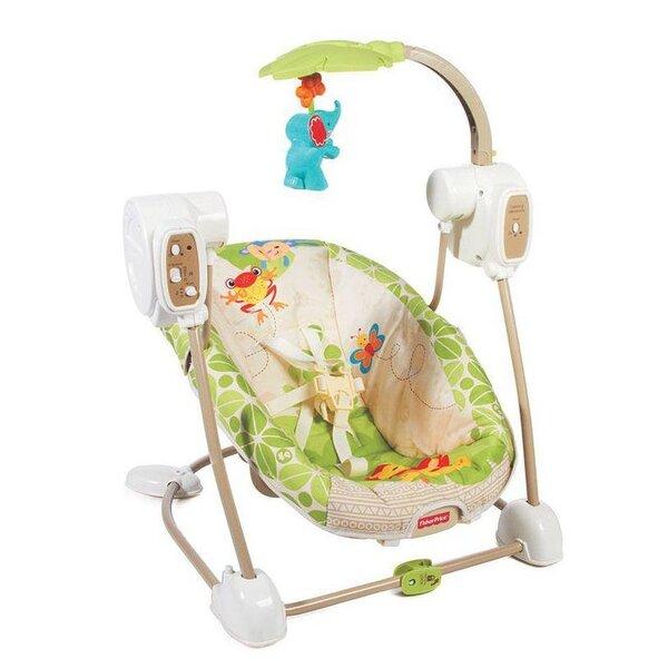 Sūpynės - gultukas kūdikiui Fisher Price Atogrąžų miškų draugai, BGM57