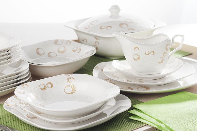 Ambition Claire pietų servizas, 43 dalių kaina ir informacija | Indai, lėkštės, pietų servizai | pigu.lt