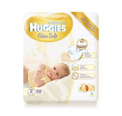 Sauskelnės HUGGIES Elite soft, 2 dydis, 88vnt. kaina ir informacija | Sauskelnės, vystyklai | pigu.lt
