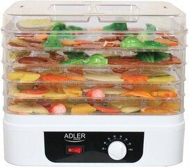 Vaisių,grybu,daržovių džiovintuvas Adler AD 6655 kaina ir informacija | Vaisių džiovintuvai, daigyklės, vakumatoriai | pigu.lt
