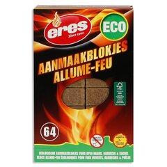 Uždegimo kubeliai ERES ECO-BLOCKS, medis + parafinas, 64 vnt. kaina ir informacija | Medžio anglis, briketai, uždegimo priemonės | pigu.lt